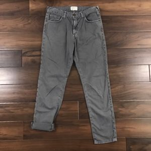 Current Elliott Washed Gray The Uncle Pants Jeans